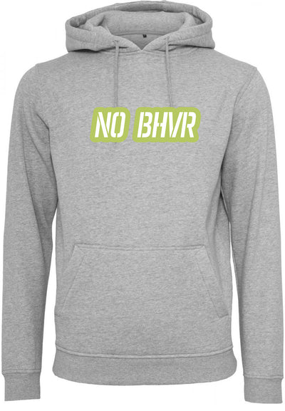 NO BHVR Green Bubble Logo Mens Hoodie (Grey)