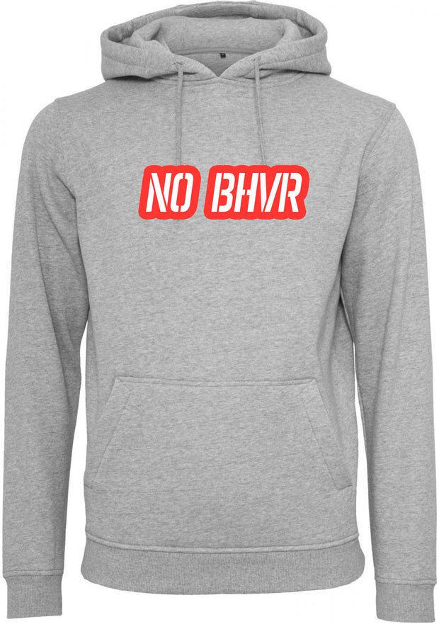 NO BHVR Red Bubble Logo Mens Hoodie (Grey)