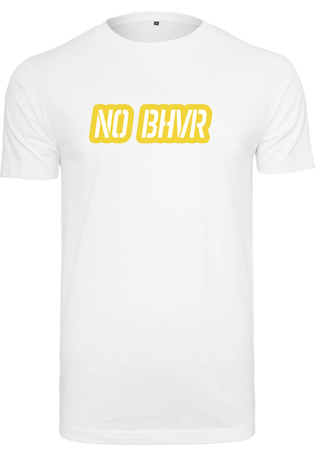 NO BHVR Coloured Bubble Logo Mens Tee (White)