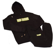 NO BHVR Green Bubble Logo Mens Hoodie (Black)