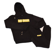 NO BHVR Yellow Bubble Logo Mens Sweat Pants (Black)