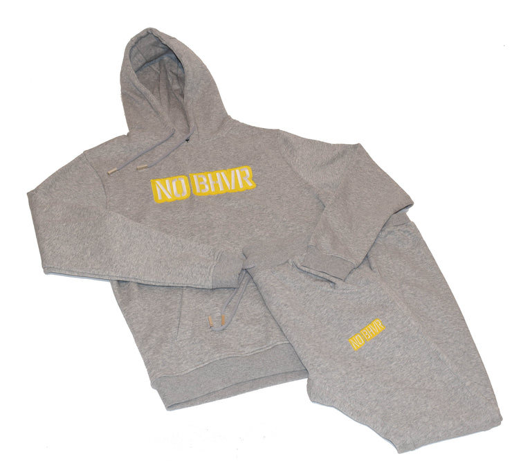 NO BHVR Coloured Bubble Logo Mens Track Suit (Grey)