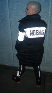NO BHVR Womens Reflective Puffer