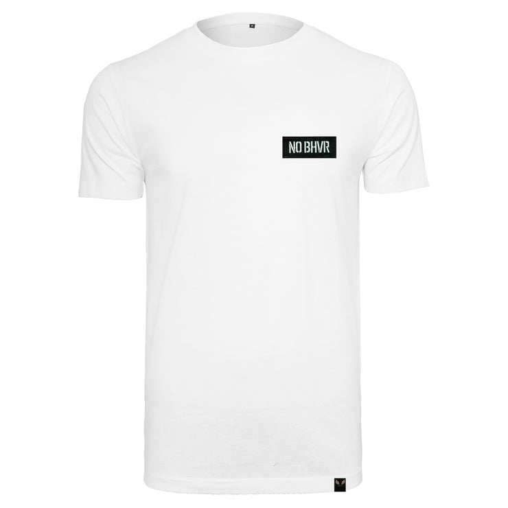 NO BHVR Badged Tee (White)