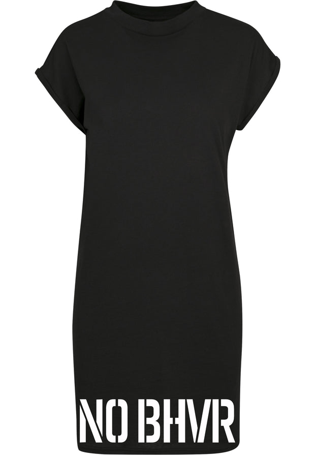 NO BHVR Ladies Turtle Extended Shoulder Dress (Black)