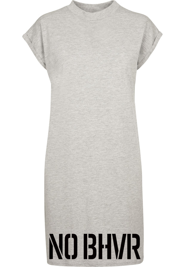 NO BHVR Ladies Turtle Extended Shoulder Dress (Grey)