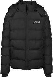 Badged NO BHVR Hooded Puffer