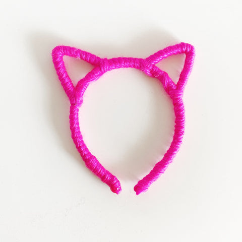 DOLL SIZED Neon Kitty // DOLL HEADBAND ONLY