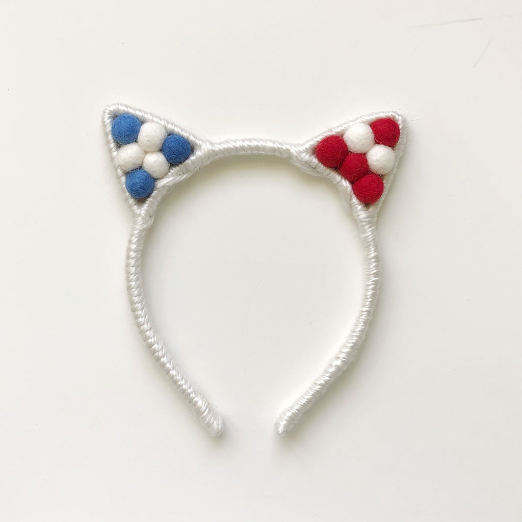 Patriotic Collection // Pom Pom Kitty (flag pattern)