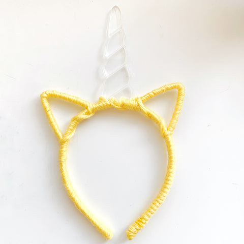 Unicorn - Clear Horn / Yellow