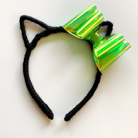 Bubble Pop Electric Collection // Black + Lime Green Bow