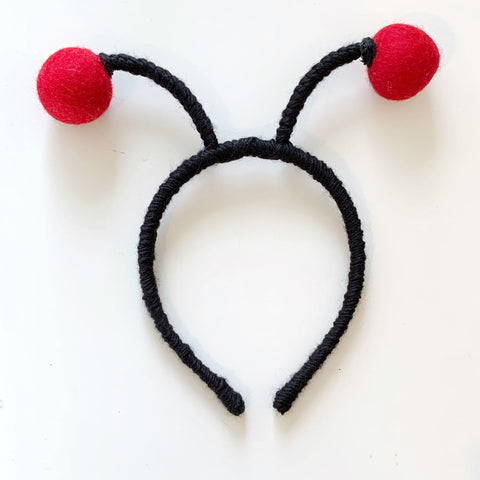 XOXO // Love Bug (Red Pom on Black