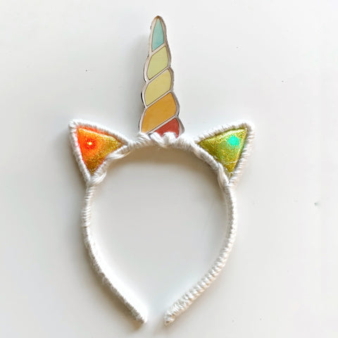 **Lights Up** Rainbow Unicorn // Light Up Headband