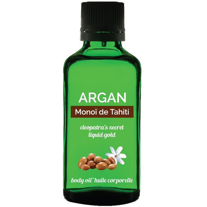 Argan Monoi de Tahiti saru body oil sold by orbeau