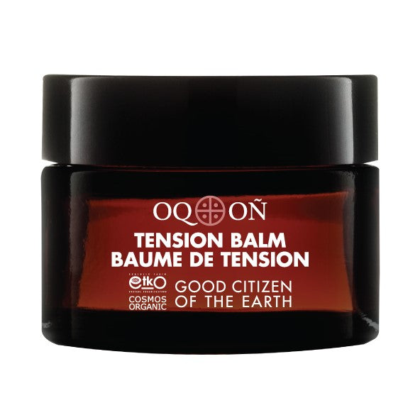 Certified Organic OQON Tension Balm sold by orbeau