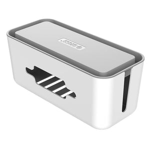 Orico Storage Box for Power Cable and Surge Protector 43.5x18.3x16.5cm - White and Grey
