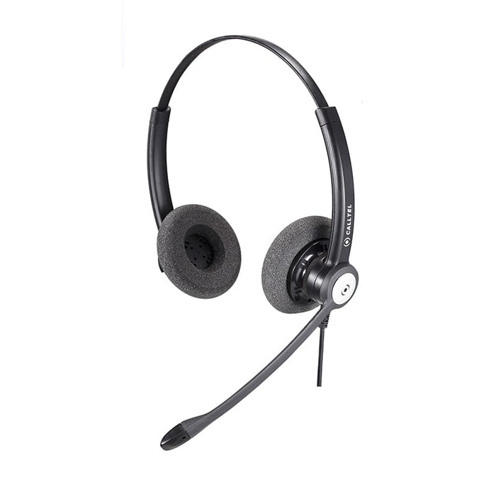 Calltel HW333N DH Stereo-Ear Noise-Cancelling Headset - Quick Disconnect Connector