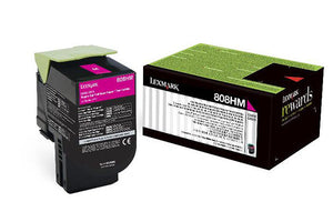 Lexmark 808HM Magenta High Yield Toner Cartridge