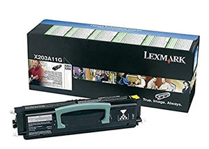 Lexmark X203A11G, Return Program Toner Cartridge Black, X203, X204 Original