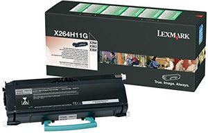 Lexmark X264H31G, Toner Cartridge Black, X264, X363, X364- Original