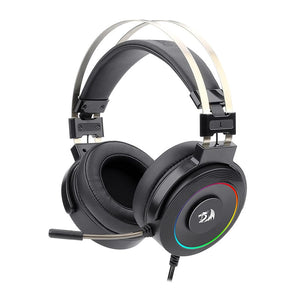 Redragon Lamia 2 USB|Virtual 7.1|3D Sound Effect|RGB Lighting|Stand Included Gaming Headset - Black