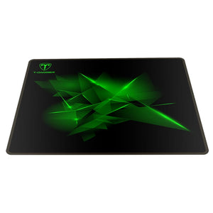T-Dagger Geometry Medium Size 360mm x 300mm x 3mm|Speed Design|Printed Gaming Mouse Pad Black and Green
