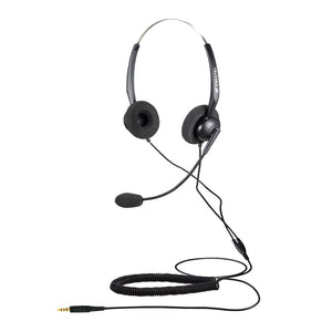 Calltel T800 Stereo-Ear Noise-Cancelling Headset - Single 3.5mm Jack