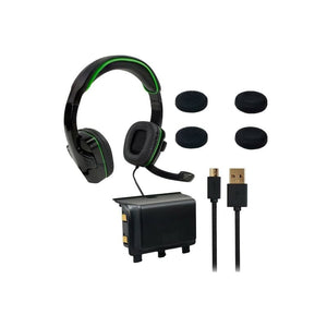 SPARKFOX Xbox-One Headset|High-Capacity Battery|3m Braided Cable|Thumb Grip Core Gamer Combo