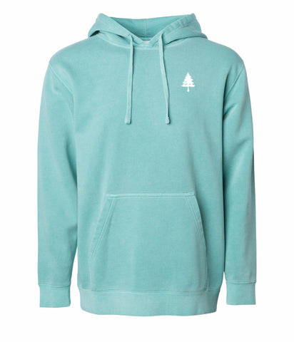 4EVERGREEN PIGMENT MINT HOODIE - EYE Clothing Company