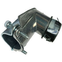 "Connectors, 90°, Single ""Snap-In"", Clamp, AC(BX)-FMC-MC, Zinc Die Cast"