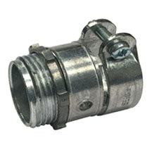 Connectors, Straight-Squeeze, for AC-MC-FMC, Zinc