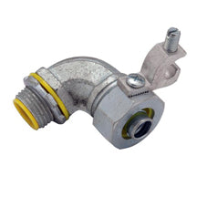 Liquid Tight Connectors, 90°, with Grounding Lug, Insulated, Steel & Malleable