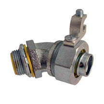Liquid Tight Connectors, 45°, with Grounding Lug, Insulated, Steel & Malleable