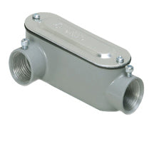 Conduit Bodies, Combination for EMT & RIGID/IMC, Type LR with Cover & Gasket, Aluminum