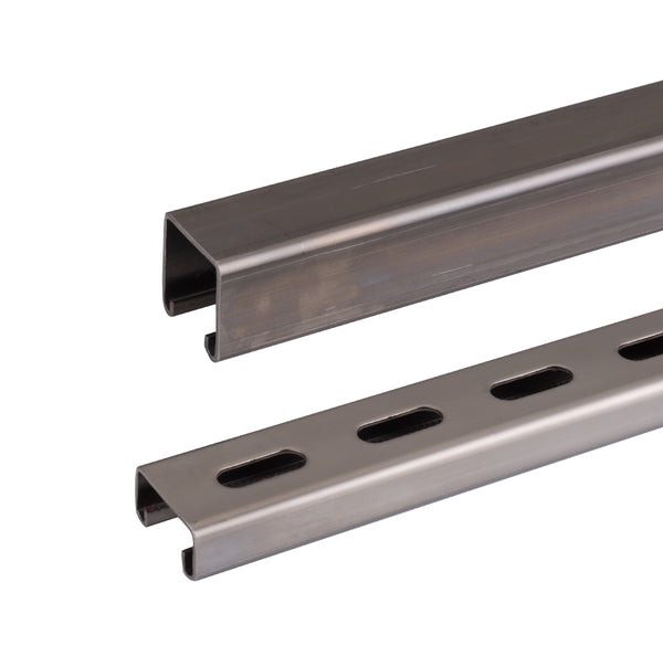 Strut Channel, Standard, Slotted & Shallow, Stainless Steel