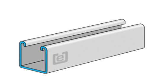 "eSTRUT™ Cold Form Strut Channel, 12 Gauge, 1-5/8"" x 1"""