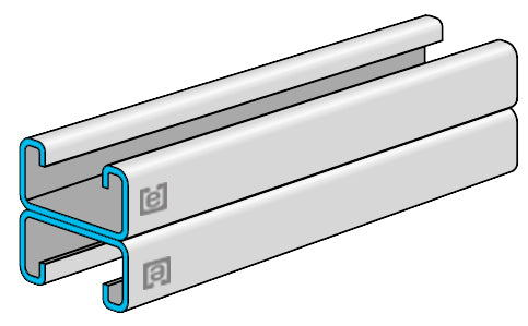"eSTRUT™ Cold Formed Strut Channel, 14 Gauge, 1-5/8"" x 1-5/8"" Back-to-Back"