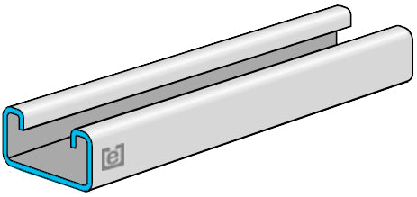 "eSTRUT™ Cold Formed Strut Channel, 14 Gauge, 1-5/8"" x 13/16"""