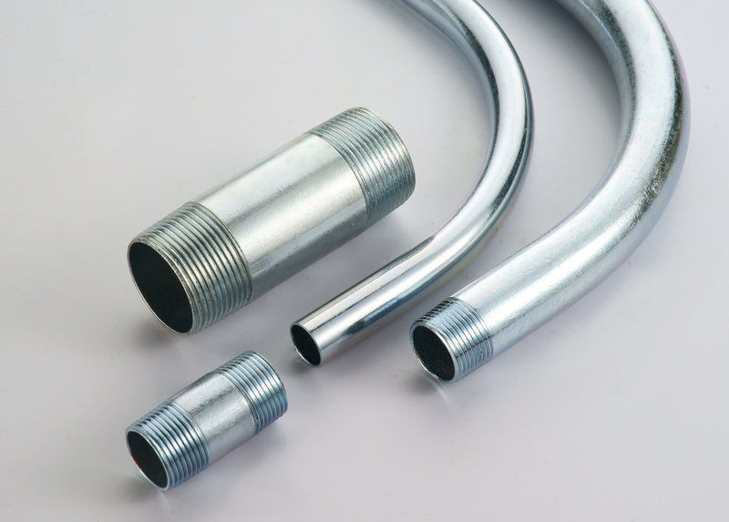 Nipples, RIGID/IMC, Conduit, Hot Dipped, Galvanized Steel