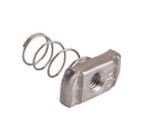 Nut Spring , Regular, Threaded Rod, Stainless Steel