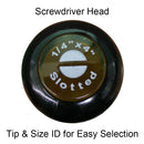 Phillips Screw Drivers, with Cushioned Grip & Handle ID