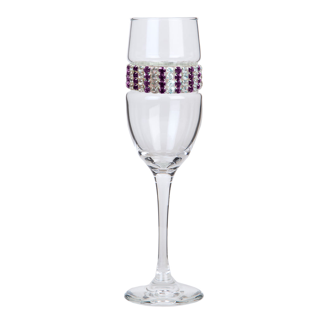 Amethyst Champagne Flute