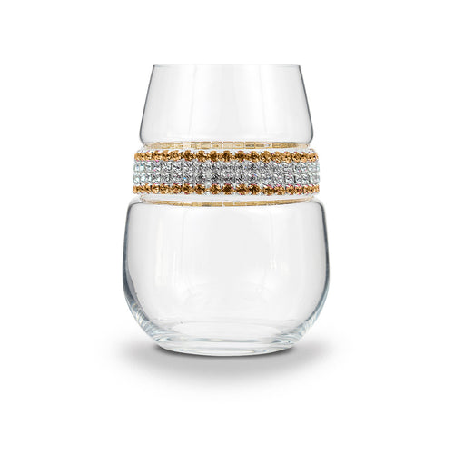 24 Karat Stemless Wine Glass | Stemless Wine Glass | Shimmering Wines
