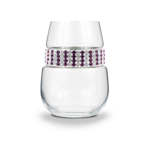 Amethyst Stemless Wine Glass | Stemless Glasses | Shimmering Wines