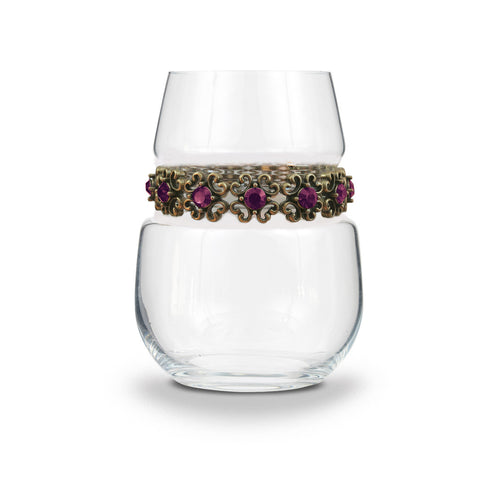 Antique Purple Stemless Wine Glass | Stemless Wine Glass | Shimmering Wines