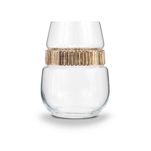 Cleopatra Stemless Wine Glass | Stemless Glasses | Shimmering Wines