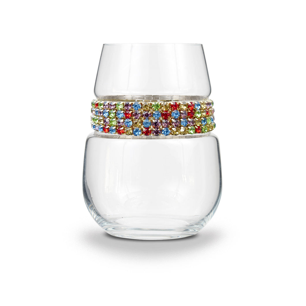 Confetti Stemless Wine Glass | Stemless Glasses | Shimmering Wines
