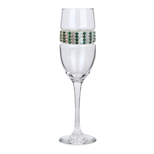 Emerald Champagne Flute | Champagne Flutes | Shimmering Wines