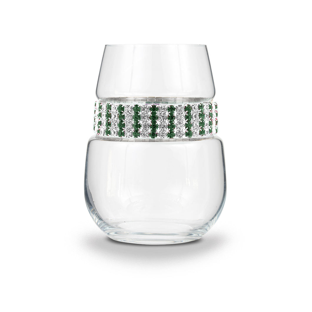 Emerald Stemless Wine Glass | Stemless Wine Glasses | Shimmering Wines