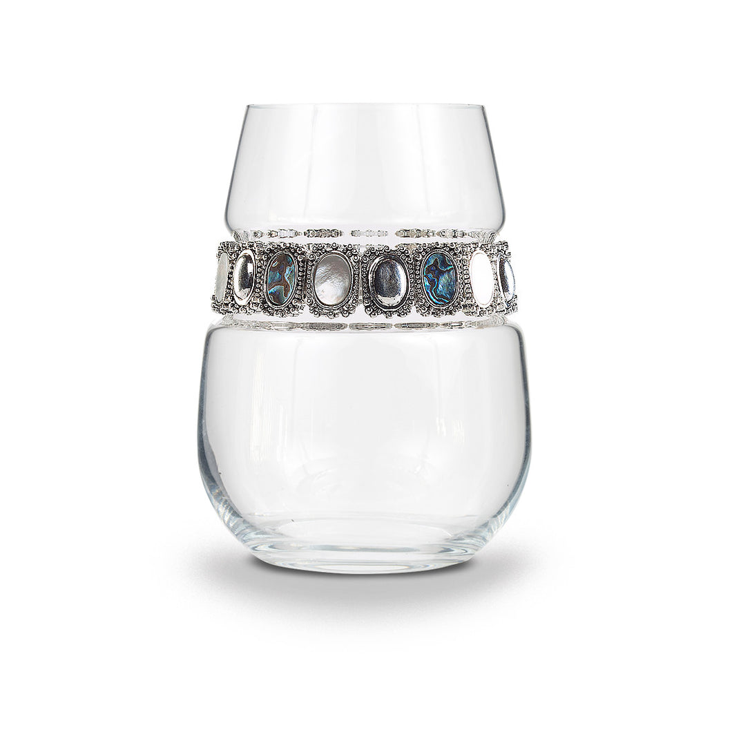 Gemstone Stemless Wine Glass | Stemless Glasses | Shimmering Wines